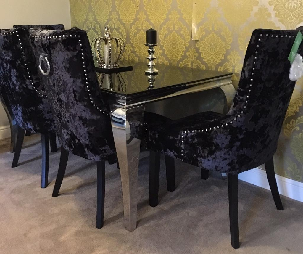 Last one £700 clearance louis boutique dining table 6 chairs