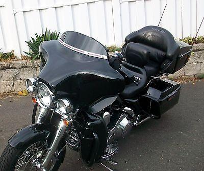 "USA Made!  4"" Black  Windshield forHarley Davidson 96- 2013  FLH DRESSER FLHX"