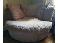 2 seater snuggle chair (DFS)