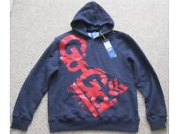 NEW Navy blue/red Gio-Goi hooded Top, size L