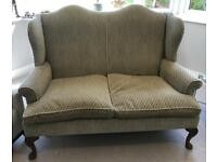 Urgent vintage 2 seater wingback sofa ( possibly Parker knoll, but not sure )