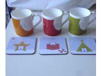 Mug and Christmas coaster set