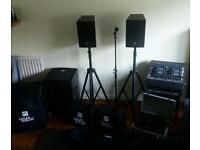 DJ equipment. H K audio. L.U.C.A.S performer. Great for start up dj.