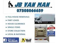 JB Van man and house removal service - moving home need a 5 star company? Large Luton Van