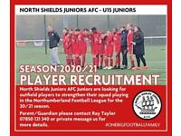 Looking for football players to play at a good standard under 15s