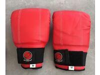 Boxing , martial arts , punchbag gloves , size medium , worn for just 10 mins