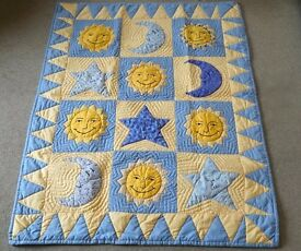 SUN AND MOON BABY QUILT