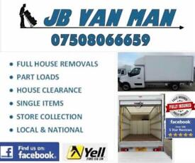 JB Van Man & Removals - Moving House, need a Van man we are moving home specialists