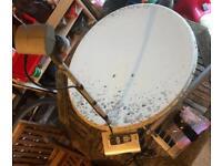 Satellite dish, receiver and remote