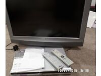 32 inch Sony Bravia TV and DVD player.