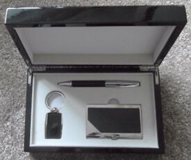 Key Ring, Pen and Business Card Holder in Presentation box. Never Used
