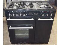 RANGEMASTER Toledo 90 Dual Fuel Range Cooker - Black