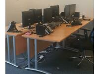 Office desks, drawers and chairs