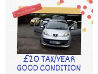 Peugeot, 107,£20 Tax per, Manual, 998 (cc), 5 doors