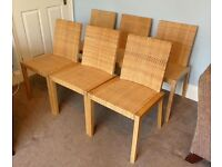 6 Dining Room Chairs £30 i.e. £5 each