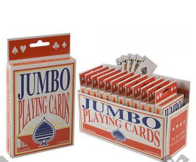Jumbo Karten-Deck Extragroß Karten Spielkarten Pack 52 Neu