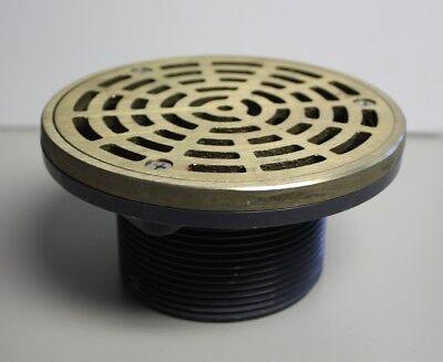Sioux Chief 3 Mip Abs On-grade Adjustable Floor Drain Nickel Bronze Strainer