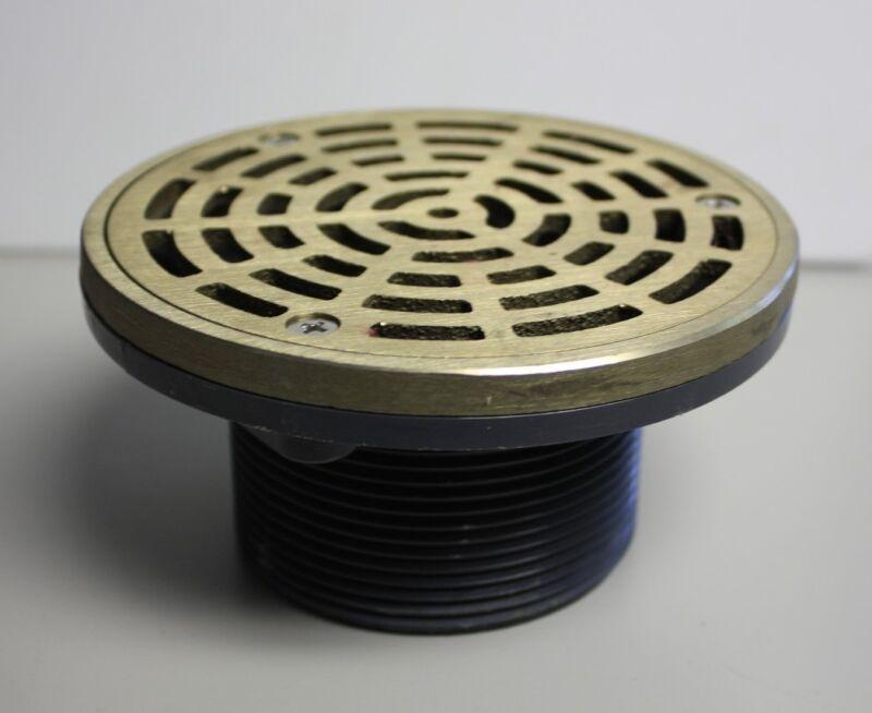 "Sioux Chief 3"" MIP ABS On-Grade Adjustable Floor Drain Nickel Bronze Strainer"
