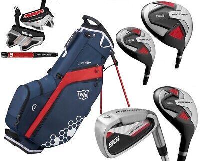 Wilson Prostaff SGI Mens Graphite Complete Golf Club Set & Prostaff Stand Bag
