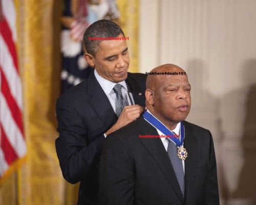 JOHN LEWIS Photo 8x10 Medal of Freedom President Barack Obama Democratic