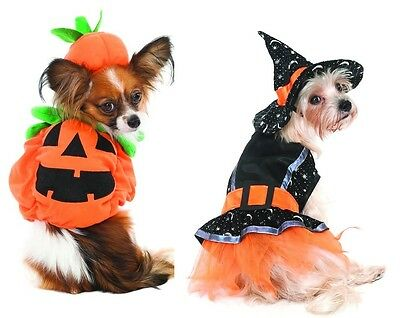 Halloween Pumpkin or Witch Costume for Dogs - XS - S -  M - Trick or Treat](Witch Costume For Dogs)