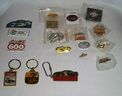 LOT of 18 NASCAR Racing PINS Keychains Magnet Winston Cup Dale Earnhardt LOOK