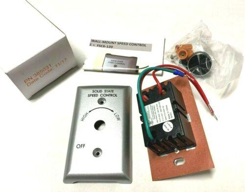 Fan Speed Control, Wall Mount, Raffel Systems 385031, PN385031