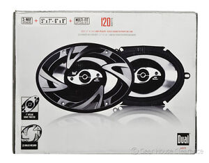 New DUAL DS573 3-Way Car Stereo Speakers, 5 x 7 or 6 x 8 Inch Multi-Fit, $60msrp