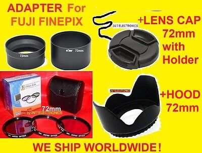 JJC Camera Lens Adapter S4250+filter Kit+hood+cap 72mm Fu...