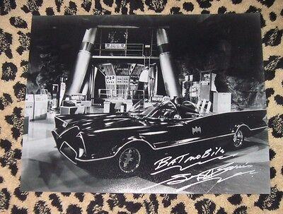 Rare GEORGE BARRIS signed 11x14 photo autograph BATMOBILE Adam West super car