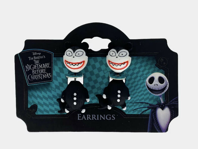 The Nightmare Before Christmas Scary Teddy Earrings Official Disney New