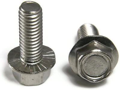 Stainless Steel Hex Cap Serrated Flange Bolt Ft Unc 5 16  18 X 3 4   Qty 25