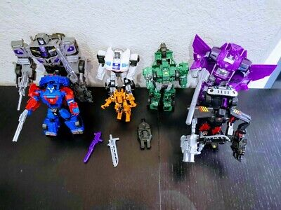 7 Hasbro Transformers Combiner Wars Lot: Hound, Wreck Gar, Jazz, Cyclonus, More…