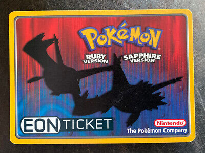 Eon Ticket, Pokemon Ruby / Sapphire Nintendo e-Reader card Rare