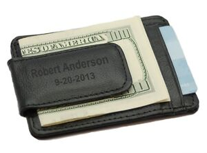 Personalized Strong Magnet Money Clip and Card Holder - Free Engraving