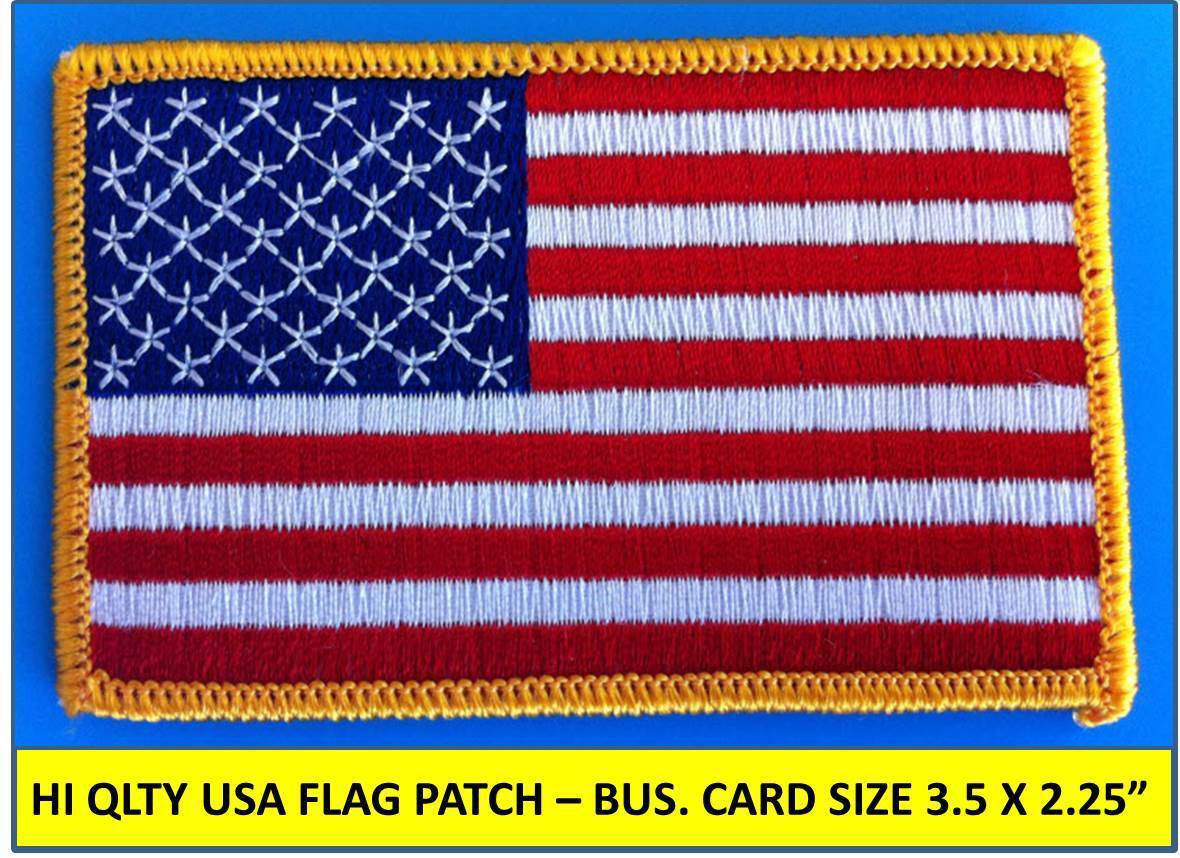 Patch Iron-On or Sew-On Flag Of USA American Flag Patriotic Embroidered Applique