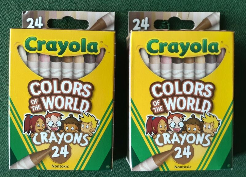 2 Pack Crayola Colors Of The World Crayons 24pc Brand New SHIPS RIGHT AWAY - NEW