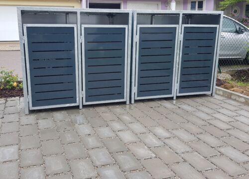 Mülltonnenbox, Verkleidung Mülltonne, Müllhaus (240 Liter) 4er Mülltonnenhaus