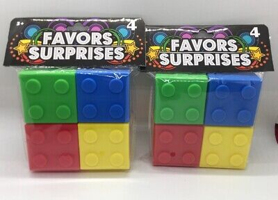 Party Favor Containers (8 Piece Lego Birthday Party Favor Boxes BUILDING BRICK Containers With)