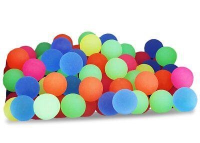 100 Pelotas Rebotonas d Diferentes Colores Solidos d Neon para Fiestas Regalos!