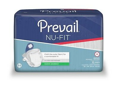 First Quality Nu-Fit Adult Brief Diaper, MEDIUM, Extra Abs., NU-012 - Pack of 16 ()