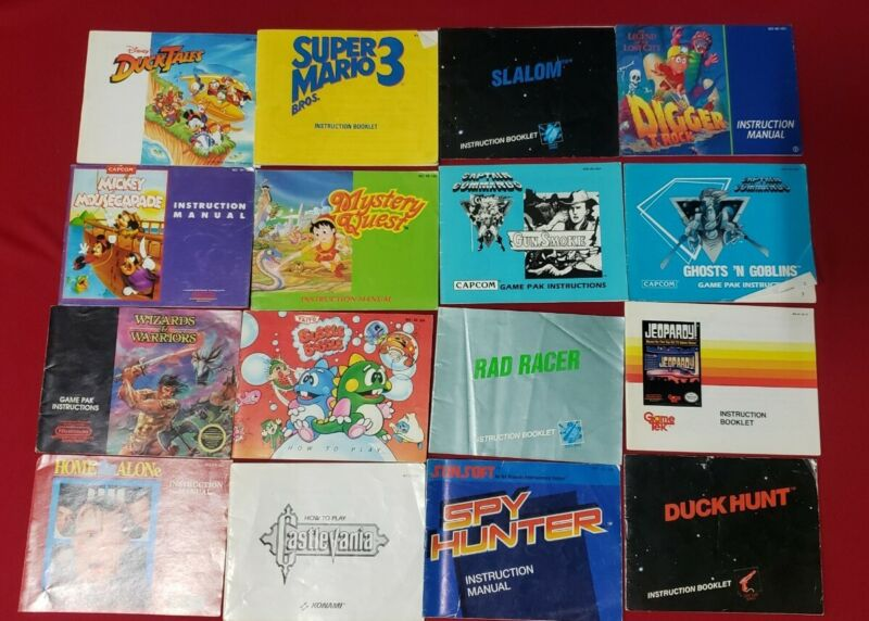 NINTENDO ENTERTAINMENT SYSTEM GAME INSTRUCTION MANUAL LOT OF 35