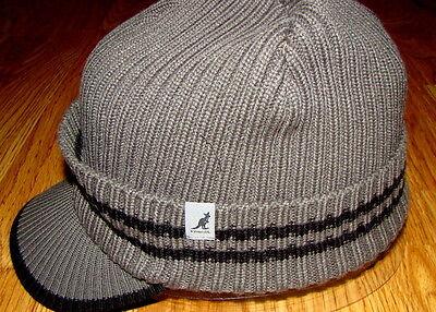 Kangol Headwear Ribbed Peak  Pull On Hat  Color  Charcoal/Black