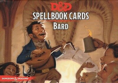 Dungeons & Dragons-D&D-Spellbook-DRUID-BARD-120 Cards-Deck-engl.-new-very rare