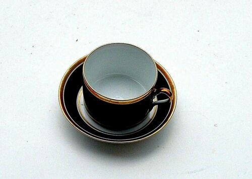 Richard Ginori Tea Cup & Saucer Contessa Black
