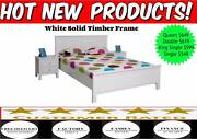 FREE DELIVERY* Solid Timber WHITE Bed Frame- RRP $699 Toowoomba Toowoomba City Preview