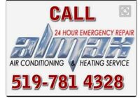 24 hr services heating and cooling furnace repair and fixing