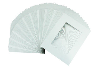 Set of 50  5x7 White Picture Mats Mattes with White Core Bevel Cut for 4x6 Photo](Photo Mat)