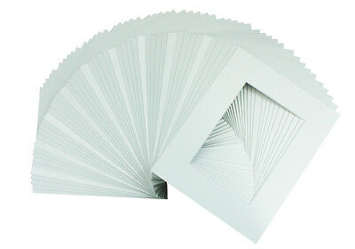 Set of 50  5x7 White Picture Mats Mattes with White Core Bevel Cut for 4x6 Photo