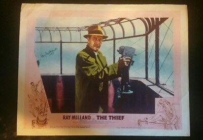 "RARE VINTAGE LOBBY CARD SIGNED 14X11 ""The Thief """